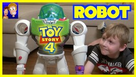 Toy Story 4 Liam Finds A Giant Buzz Lightyear Robot - Forky Woody Imaginext Toys