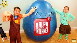 Ralph Breaks the Internet GIANT HATCHING SURPRISE EGG Takes Kids Internet Shopping  Surprise Toys