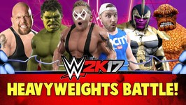Wwe 2K17 Heavyweights Battle Royal With Marvel Avengers And Batman Super Heroes