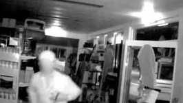 Burglar Smashes Ute Through Shop Doors