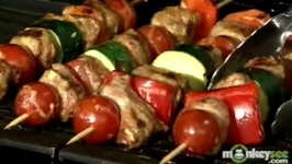 Tailgating Recipes - Sausage and Vegetable Kebabs with Mustard Sauce