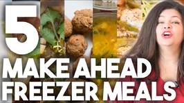 5 Make Ahead Freezer Meals - Holiday Planning - Kravings