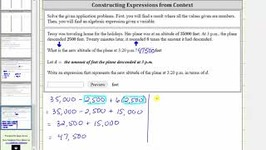 Application - Evaluate A Numerical Expression And Find A Variable Expression a bx
