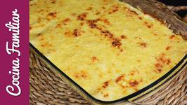 Canelones de espinacas gratinados con queso y bechamel - Recetas caseras