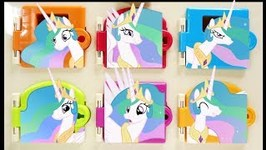 Princess Celestia EPIC Trapped Doors Matching Colors and Surprises