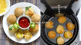 Air Fryer Cheesy Potato Stuffed Bread Balls - Aloo Bread Bonda Vada