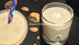 Badam Anjeer (Almond Fig) Milkshake