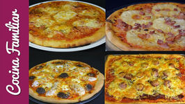 Receta de masa para pizza y 4 pizzas diferentes - Recetas caseras