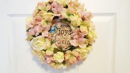Easy Spring Dollar Tree Wreath  Spring Crafts