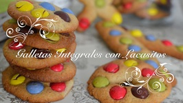 Galletas Integrales Con Lacasitos O Cookies Faciles / Galletas Con Lacasitos