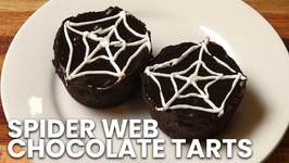 Spider Web Chocolate Tarts- Halloween