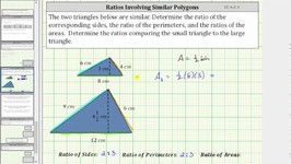 Discover the Ratios of Sides Perimeters  and Areas of Similar Polygons - CC 6 G 1