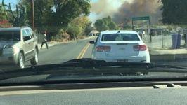 Brushfire Smoke Clouds Riverside Neighborhoods