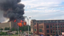 Massive Fire at Abandoned Mill Building in Sanford