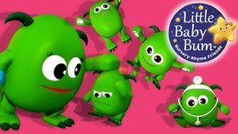 Five Little Monsters Jumping On The Bed - Nursery Rhymes