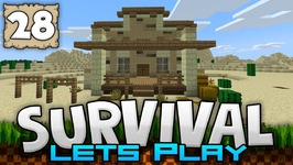 BUILDING A BANK - Survival Let's Play Ep. 28 - Minecraft 1.2 - PE W10 XB1