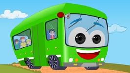 Wheels on the bus - Nursery Rhyme - Green Bus