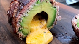 Smoked And Stuffed Avocado