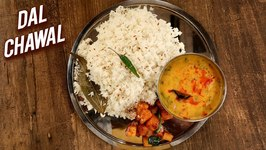 Dal Chawal / How To Make Dal Rice / Yellow Dal And Jeera Rice / Traditional Veg Recipe By Chef Varun