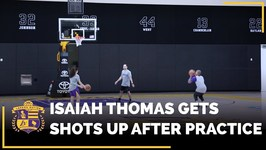 Your FIRST Look At Isaiah Thomas Getting Shots Up In The Lakers Practice Facility