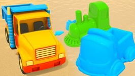 Learn Colors with Sandbox Toys- A Baby Cartoon with Cars
