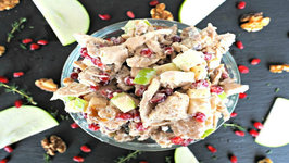 Salad Recipe-Apple and Pomegranate Chicken Salad
