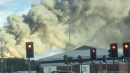 Huge Column of Smoke Rises From Recycling Centre Fire in Bolton