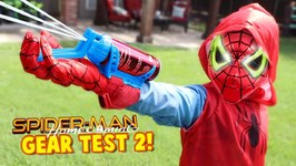 Spider-Man Homecoming Movie Gear Test Real Web Shooters For Kids Toys Review