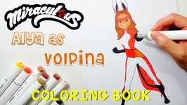 Miraculous Ladybug Coloring Book Pages Alya As Volpina Video by ...