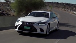 LEXUS LS 500h in White Driving Video