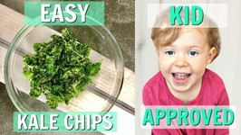 Easy Air Fryer Kale Chips - Healthy Snack For Children