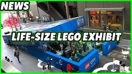 LIFE-SIZE LEGO City Box Opened at Mall in Tokyo Japan
