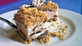 Easy No-Bake Frozen Blueberry Pie