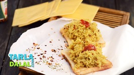 Open Cheese And Herb Maggi Toast