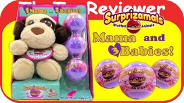 Surprizamals Mama And Babies Layla Brown Dog Unicorn Brown Bull Unboxing Toy Review