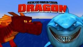 Minecraft - HOW TO TRAIN YOUR DRAGON - Dragon Vs Shark! 25