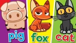 The Spelling Song - Learn To Spell 3 Letter Words - Kindergarten, Preschool & ESL