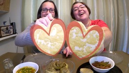 Stuffed Artichoke Hearts, Lots Of Vegetables And Tofu Hearts / Gay Family Mukbang - Eating Show