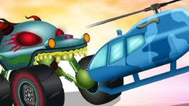 Flying Squad - Haunted House Monster Truck - Car Cartoon Videos For Babies by Kids Channel