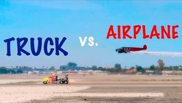 JET TRUCK RACES AIRPLANE at YUMA AIR SHOW