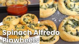 Spinach Alfredo Pinwheels