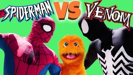 Spiderman VS Venom Real Life Super Hero Battle - Fun Silly String IRL For Kids