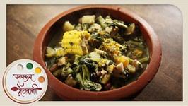 Rushichi Bhaji - Gauri Ganpati Recipe by Archana - Maharashtrian Vegetable in Marathi