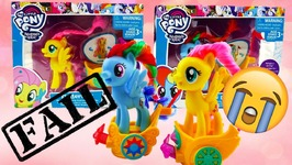 My Little Pony Royal Spin Along Chariot Rainbow Dash and Fluttershy Gala Race Fail