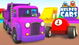 Helper Cars for Kids Learn Colors- A Toddler Learning Video - Car Cartoons for Children