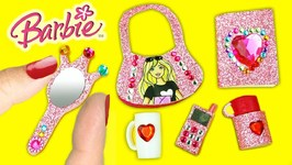How To Make Easy DIY Barbie Miniature Accessories - 10 Easy DIY Doll Crafts
