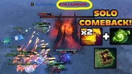 DeMoN Rhasta RAMPAGE - SOLO COMEBACK - Dota 2