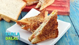 Creamy Mixed Vegetable Toast Sandwich Recipe - Toast Sandwich On A Tava