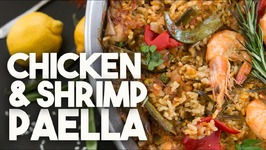 PAELLA - Chicken & Shrimp with SAFFRON & BOMBA rice