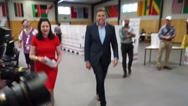 Premier Annastacia Palaszczuk Casts Vote in Queensland State Election